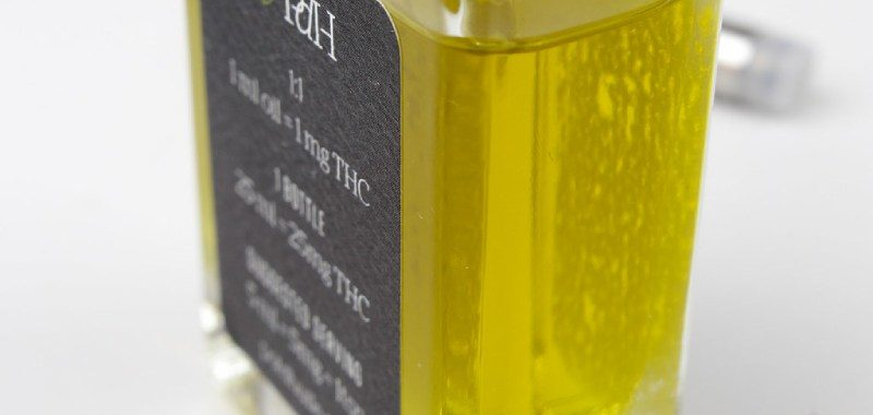 Hemp oil bottle