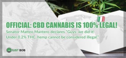 CBD cannabis is 100% legal in italy