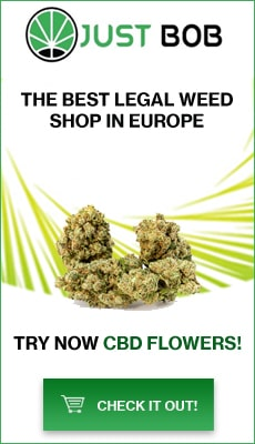Banner Justbob The best legal CBD Flowers and weed shop in Europe
