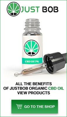 Banner Justbob Organic CBD oil